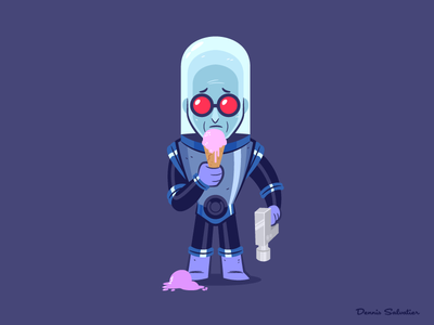 Mr. Freeze illustration character design batman animated batman btas mr. freeze
