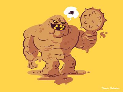 Clayface illustration character design batman animated batman btas clayface