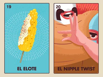 Nacho Libre Loteria loteria digital paint illustraion nacho libre