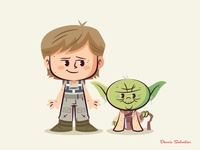 Lil BFFs: Luke and Yoda