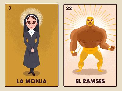 Encarnacion and Ramses encarnacion illustration character design nacho libre