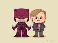Lil BFFs: Daredevil and Foggy