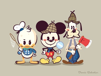 Lil Bffs: Lonesome Ghosts donald duck goofy mickey mouse illustration character design lil bffs