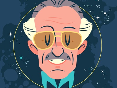 RIP Stan stan lee vector character design illustration