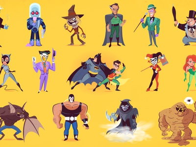 Batman the Animated Series: Stuck in the Middle with You batman the animated series dccomics character design illustration batman
