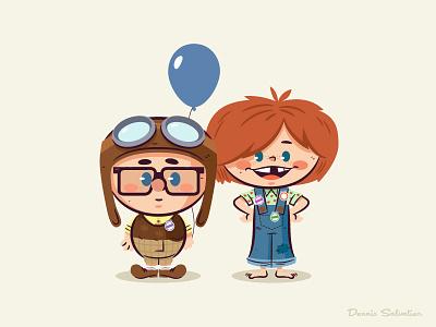 Lil BFFs: Magic Kingdom up pixar star wars disney marvel cartoon vector character design illustration