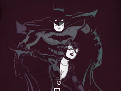 Salvatier dribbble batman catwoman2