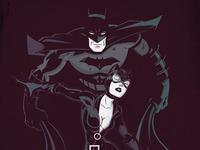 Batman Catwoman Negative