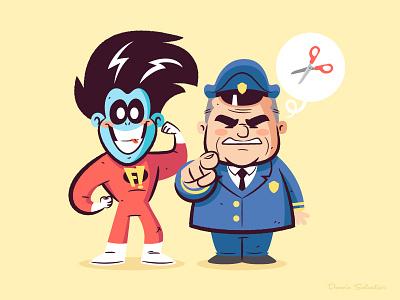 Lil BFFs Freakazoid vector cartoon character design illustration freakazoid
