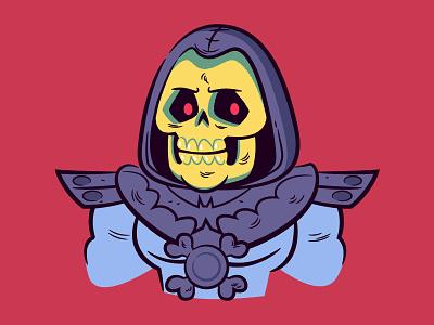 Skeletor (MOTU) skeletor masters of the universe vector character design illustration