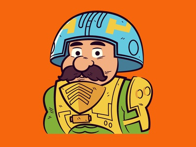 Man-at-Arms (MOTU) masters of the universe vector character design illustration
