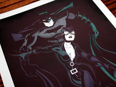 Batman Catwoman Negative Print
