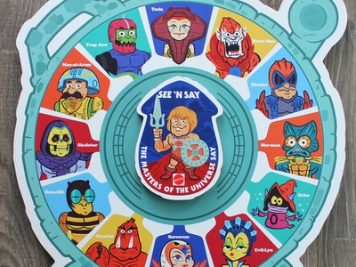 The Masters of the Universe say... (See 'n Say) gallery 1988 character design illustration toys mattel