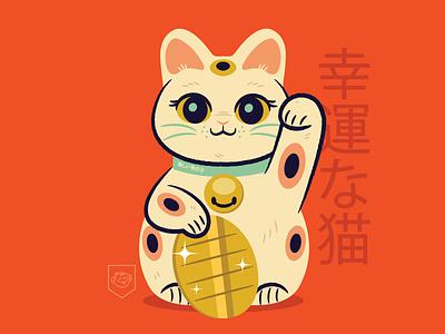Tanoshi Neko vector character design cats illustration design maneki neko