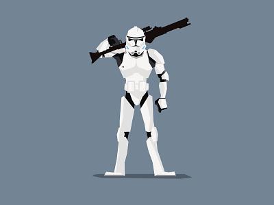 Clonetrooper Phase II vector flat starwars clone trooper trooper clone
