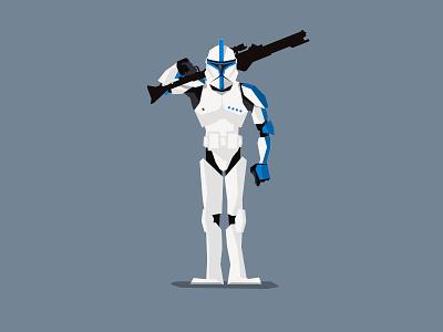 Lieutenant clone trooper flat vector trooper clone starwars