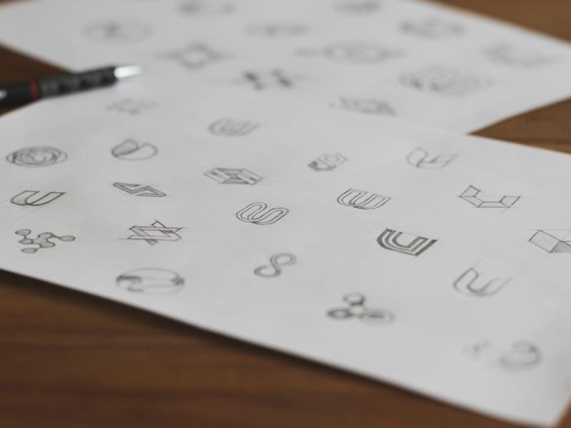 In sketch we trust logodesign logotype dessin branding logo design reserach drawing sketch design logo