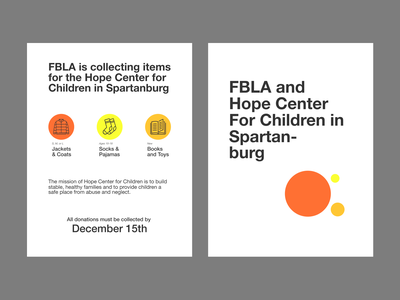 FBLA Donation Flyer flyer flier paper donation hope center fbla branding design minimal