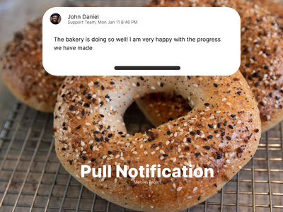Pull Notification challenge dailyui pull notification single font single font dailyui 049
