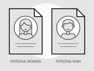 Ux Workflow Documents - Persona marketing documents doc vector illustration character icons user experience ux man woman persona