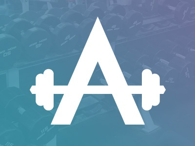 Appollo Gym Logo weights font typography body building vector mobile app logo