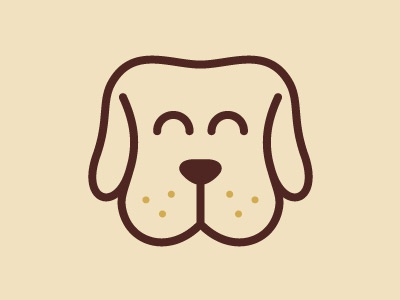 Happy Dogs Logo cute mascot veterinary puppy pet logo dogs happy