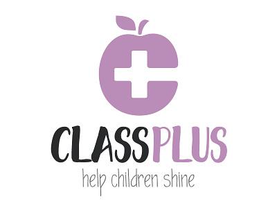 Class Plus Logo school academic resources teacher coaching mindset lilac purple letter apple plus class