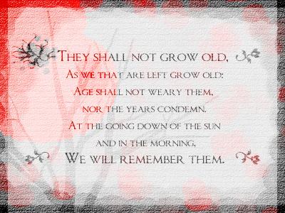 Remembrance armistice remembrance