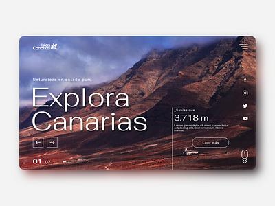 Canary Islands' tourism website 02 web design ux webdesign graphic design design ui