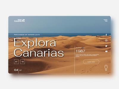 Canary Islands' tourism website 01 web design ux webdesign graphic design design ui