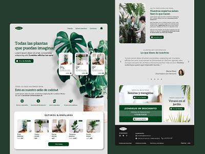 """""""Plantas"""" e-commerce - UI design 02 ux web design graphic design design ui"""