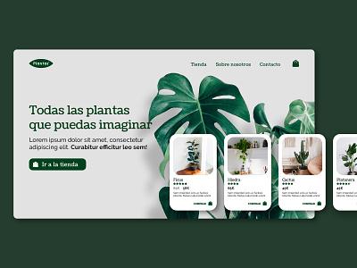 """""""Plantas"""" e-commerce - UI design 02 webdesign web design ux graphic design design ui"""