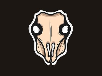 Skull.. flat design illustration vector logo