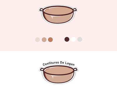 For make JAM minimal illustration flat logo vector