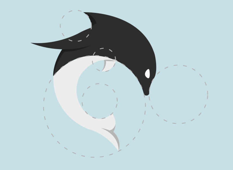 Dolphin just flat design minimal illustration vector logo icon flat