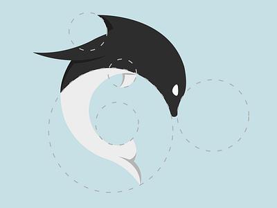 Dolphin just flat design minimal illustration vector logo icon flat