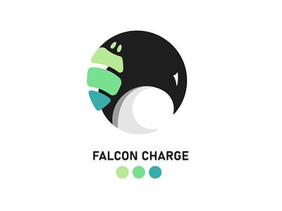 Falcon Charge falcon design minimal illustration vector logo flat