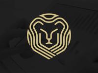 Logo symbol brand modern institutional lion icon illustration branding identity symbol logo