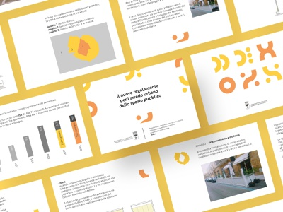 Guidelines for street furniture, dehors | Identity dehors lecce urban planning animation flat typography branding design