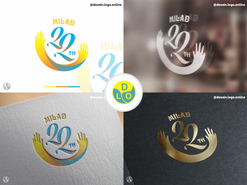 Logo Brand Design MILAD 22 icon minimal typogaphy illustration vector logotype logo design flat design design logo
