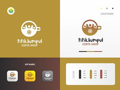 Titik Kumpul - Logo coffee shop coffee logos flat app logo mark minimal icon logotype flat design design logo design logo
