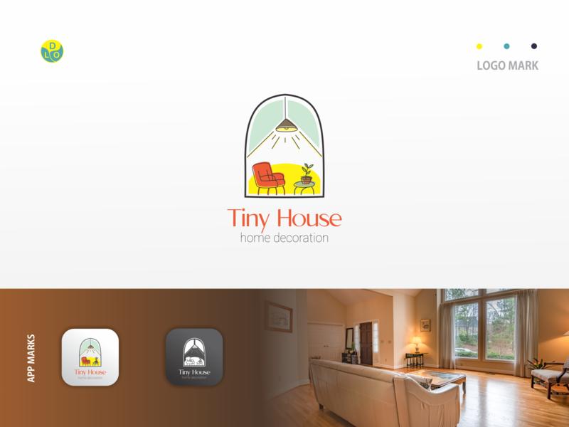 Tiny House - Logo decoration house logos flat app logo mark minimal icon logotype flat design design logo design logo