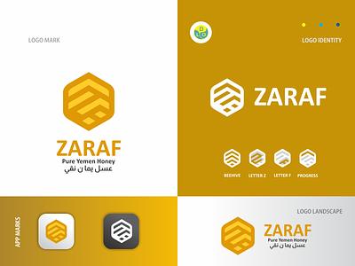 Zaraf - Logo honey bee honey bee illustration logos flat app logo mark minimal icon logotype flat design design logo design logo