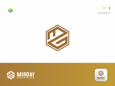 MIRDAY - Logo branding design shop gold branding illustration logos flat app logo mark minimal icon logotype flat design design logo design logo