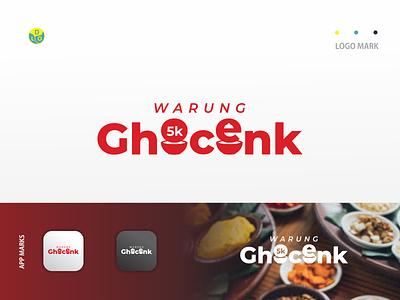 Warung Ghocenk - Logo shopping logos app logo mark minimal icon logotype flat design design logo design logo