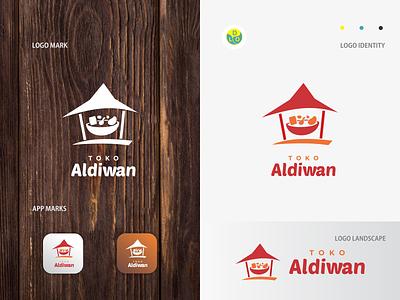 Toko Aldiwan - Logo logos app logo mark minimal icon logotype flat design design logo design logo