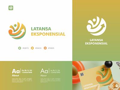 Latansa Eksponensial Logo business company green iconic modern ui identity minimal logo design branding arrow logos graphic design icon design logo
