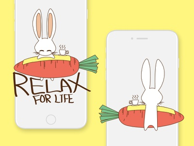 A Relaxing Rabbit / Illustration brand web ui tea time rabbit design visual illustration