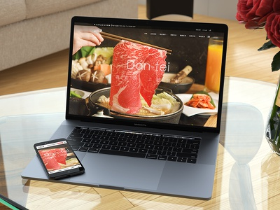 Don-tei 和牛壽喜燒餐廳 | Web Design brand web ui ux visual design web deisgn photography food hotpot sukiyaki don-tei