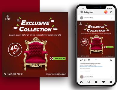 Social Media Banner Design concept card internet design website stamp template illustration blue computer web business